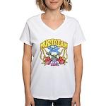 Hippie Musician Women's V-Neck T-Shirt