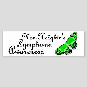 Butterfly Awareness 3 (Non-Hodgkin's) Sticker (Bum