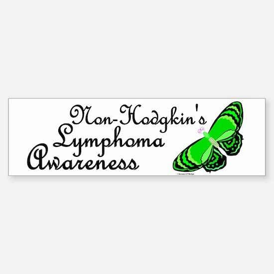Butterfly Awareness 3 (Non-Hodgkin's) Bumper Bumper Sticker