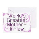 World's Greatest Mother-in-Law Greeting Cards (Pk