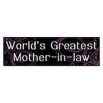 World's Greatest Mother-in-Law Sticker (Bumper 10