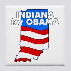 Indiana for Obama Tile Coaster