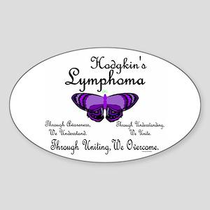 Butterfly 1 Hodgkin's Lymphoma Oval Sticker