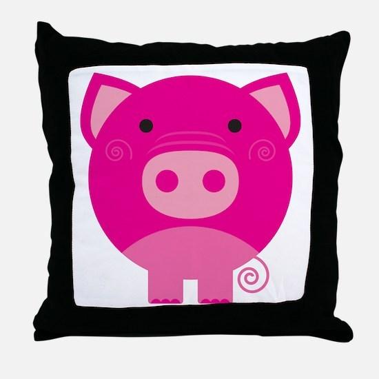 Pink Pig Throw Pillow