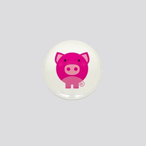 Pink Pig Mini Button