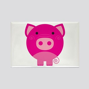 Pink Pig Rectangle Magnet