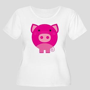Pink Pig Women's Plus Size Scoop Neck T-Shirt