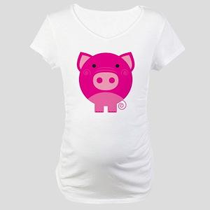 Pink Pig Maternity T-Shirt
