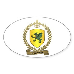d'ABBADIE Family Crest Oval Decal
