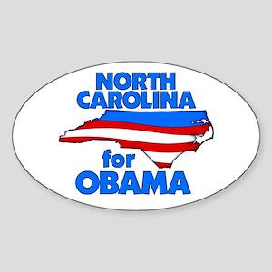 North Carolina for Obama Oval Sticker