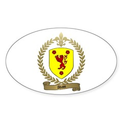 ADAM Family Crest Oval Decal