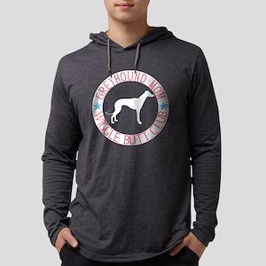 Greyhound Mom Wiggle Butt Club Long Sleeve T-Shirt