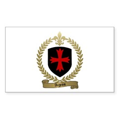 AIGRON Family Crest Rectangle Decal