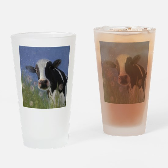 Cute Cattle country Drinking Glass