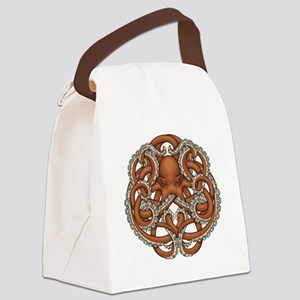 Octopus Emblem Canvas Lunch Bag