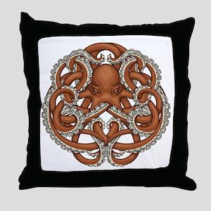 Octopus Emblem Throw Pillow