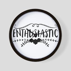 enthusiastic Wall Clock