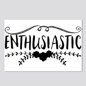 enthusiastic Postcards (Package of 8)