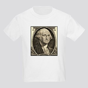 George Washington, $1 Portrait Kids T-Shirt
