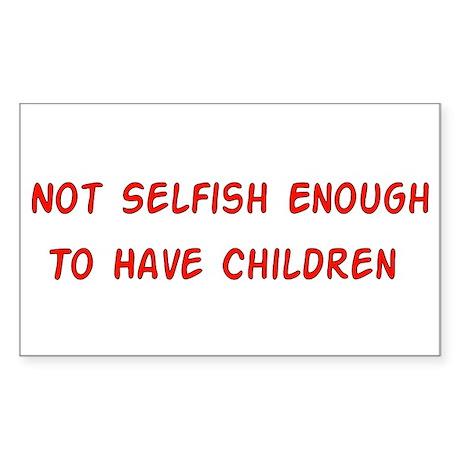 No Breeder Ego Rectangle Sticker