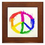 Peace Sign Framed Tile