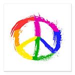 Peace Sign Square Car Magnet 3