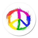 Peace Sign Round Car Magnet
