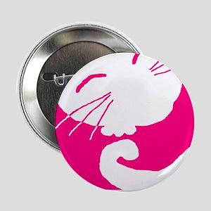 Pink Sleepy Cat Button
