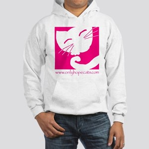 Pink Sleepy Cat Hooded Sweatshirt