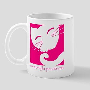 Pink Sleepy Cat Mug