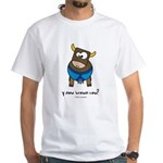 y now brown cow White T-Shirt