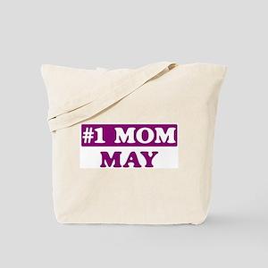 May - Number 1 Mom Tote Bag