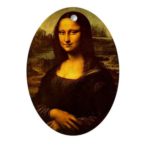 Mona Lisa Oval Ornament