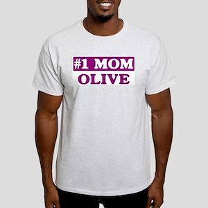 Olive - Number 1 Mom Light T-Shirt