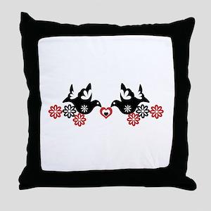 Mexican birds art Throw Pillow