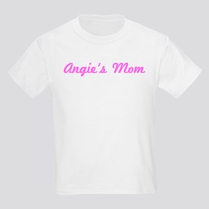 Angie Mom (pink) Kids Light T-Shirt