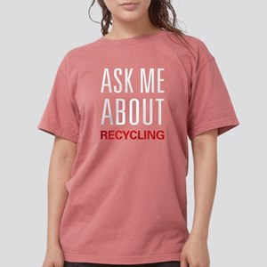 Ask Me About Recycling Women's Dark T-Shirt