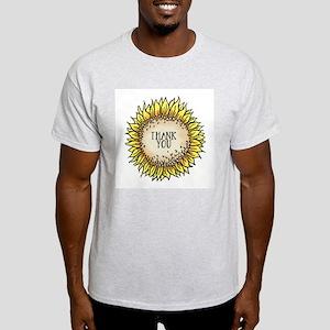 Thank You Flower Ash Grey T-Shirt