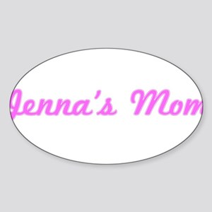 Jenna Mom (pink) Oval Sticker