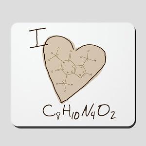 I Love Caffeine (tan) Mousepad