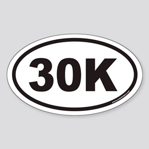 30K Euro Oval Sticker