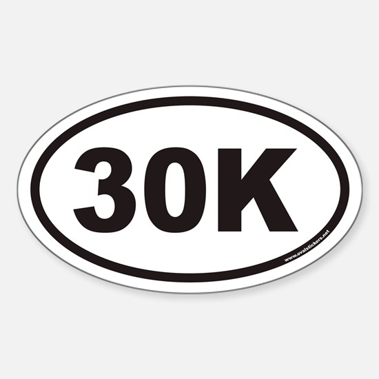 30K Euro Oval Decal