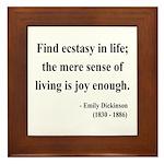 Emily Dickinson 20 Framed Tile