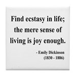 Emily Dickinson 20 Tile Coaster