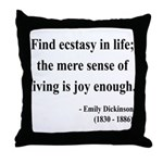 Emily Dickinson 20 Throw Pillow