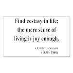 Emily Dickinson 20 Rectangle Sticker