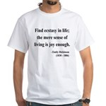 Emily Dickinson 20 White T-Shirt