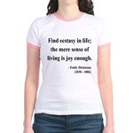Emily Dickinson 20 Jr. Ringer T-Shirt
