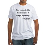 Emily Dickinson 20 Fitted T-Shirt