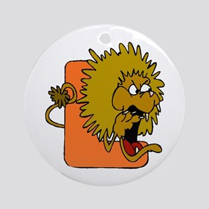 L is for Lion Ornament (Round)